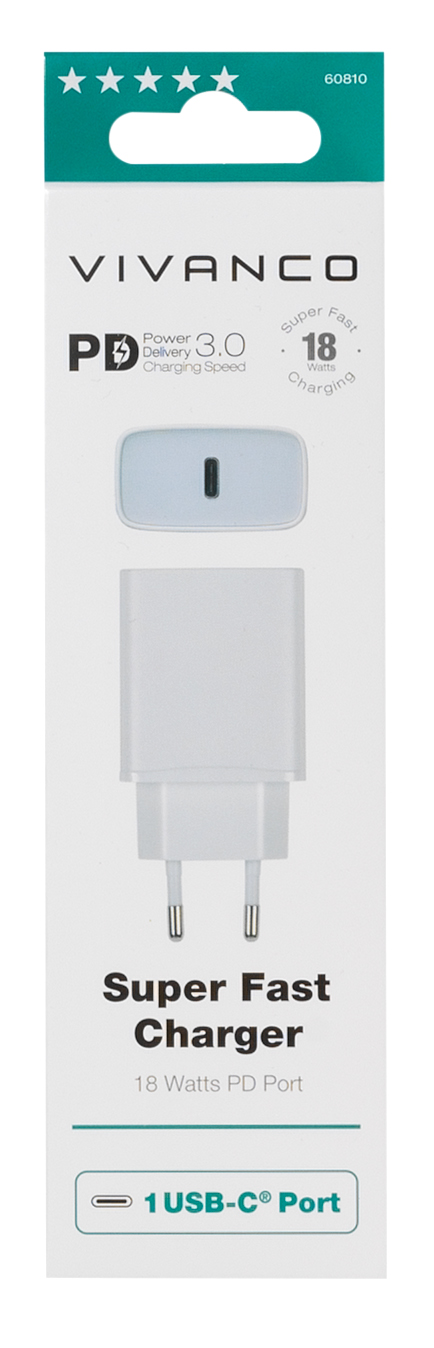 Vivanco · USB-C PD Charger (18W)