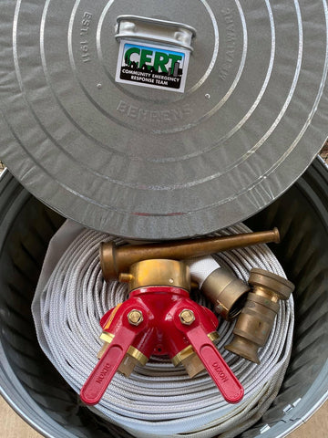 The prototype of the ACE Fire hose connector kit.