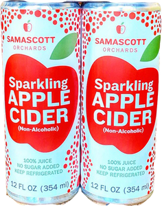 Sparkling Apple Cider (Non-Alcoholic) - Samascott Orchards - 4-pack