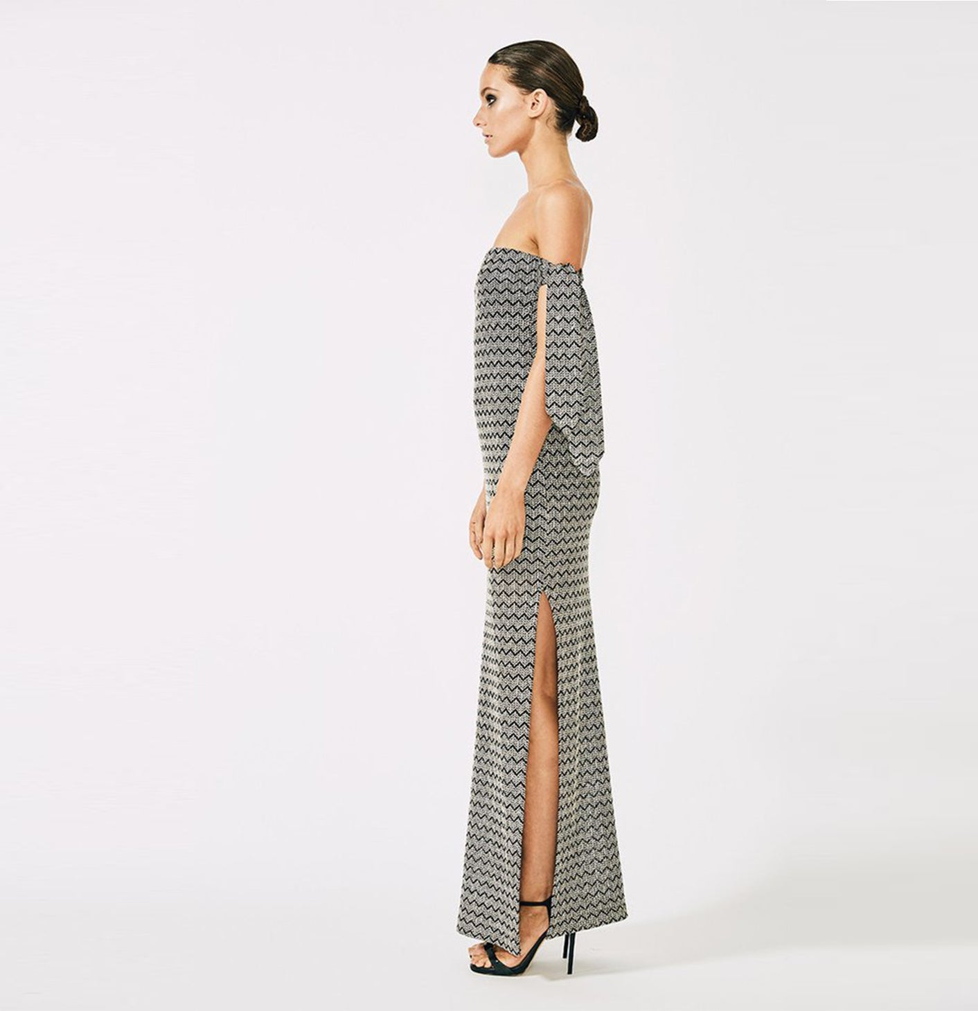Danglars Strapless Midi Dress with Ties