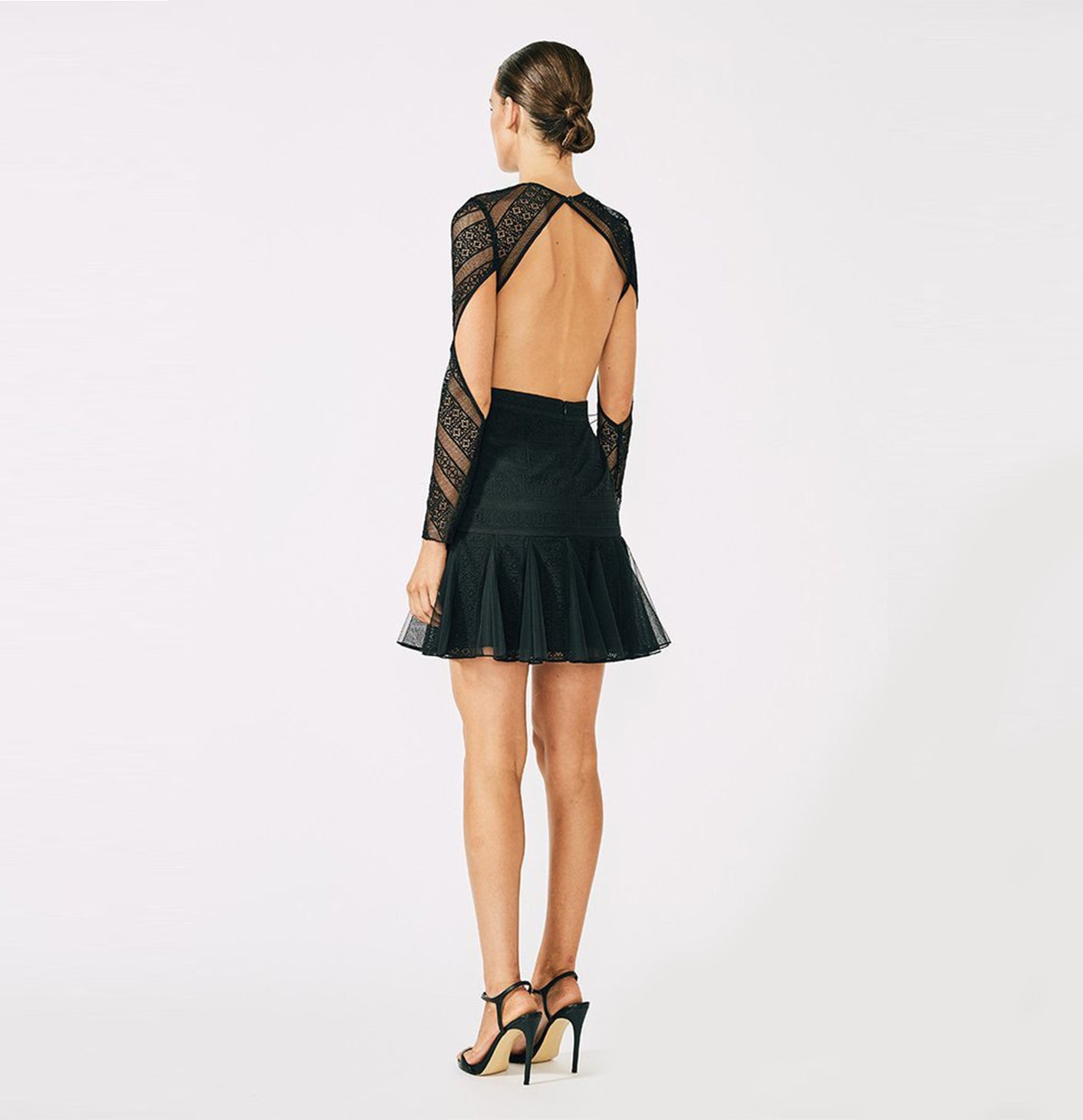 Moliere Long Sleeve Backless Mini Dress