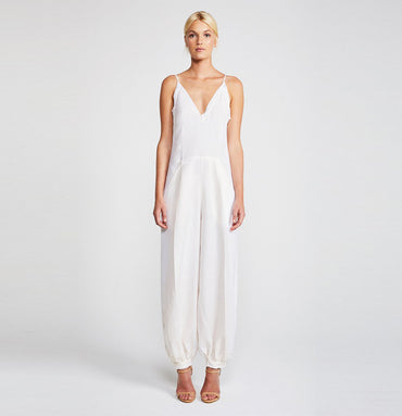 DAWN TAILORED HAREM JUMPSUIT - CREAM