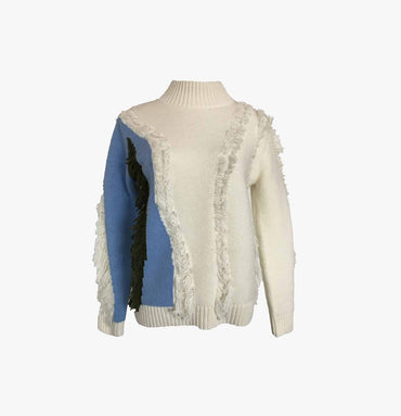Intarsia Flossy Pull-over