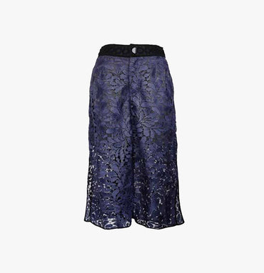 GAUCHO PANTS IN GUIPURE LACE