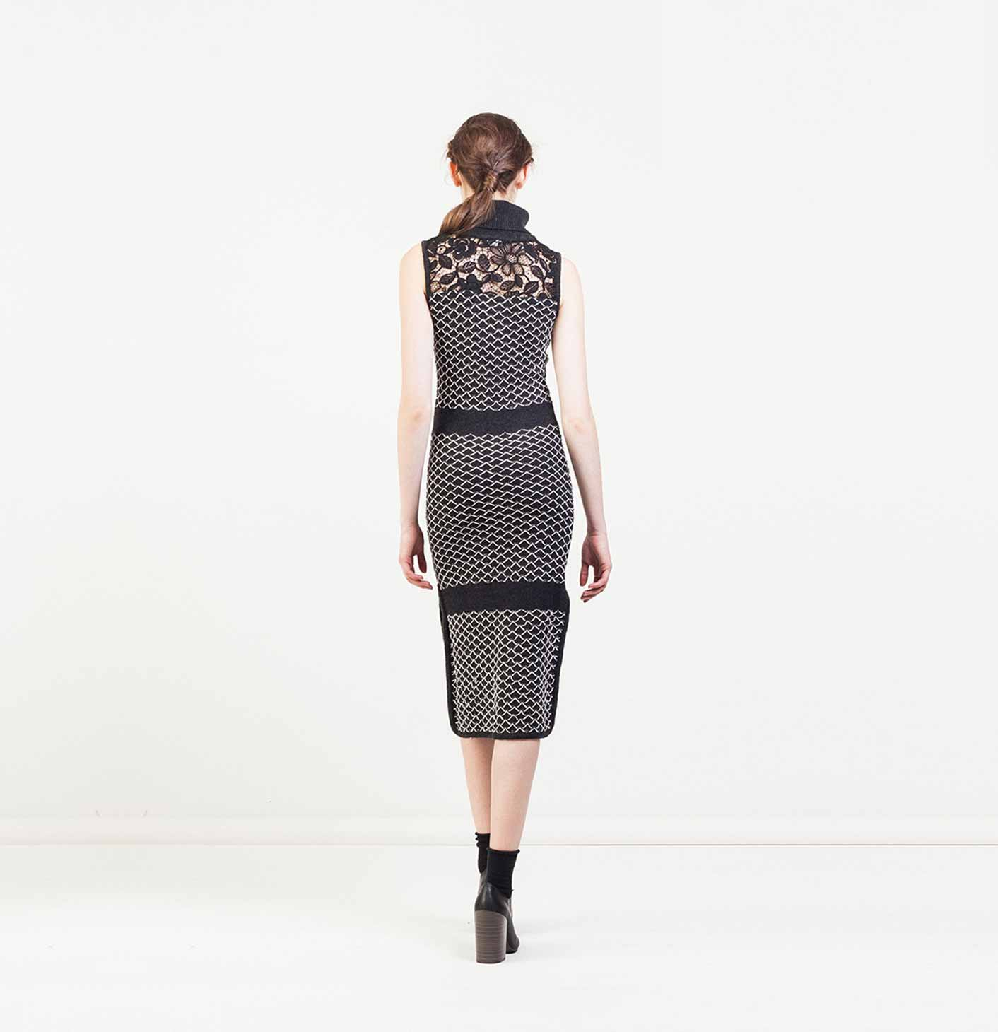 Knitted Dress With Intarsia