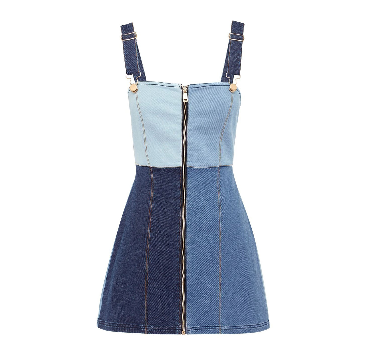 THAT'S WHAT I LIKE DRESS DENIM PATCHWORK
