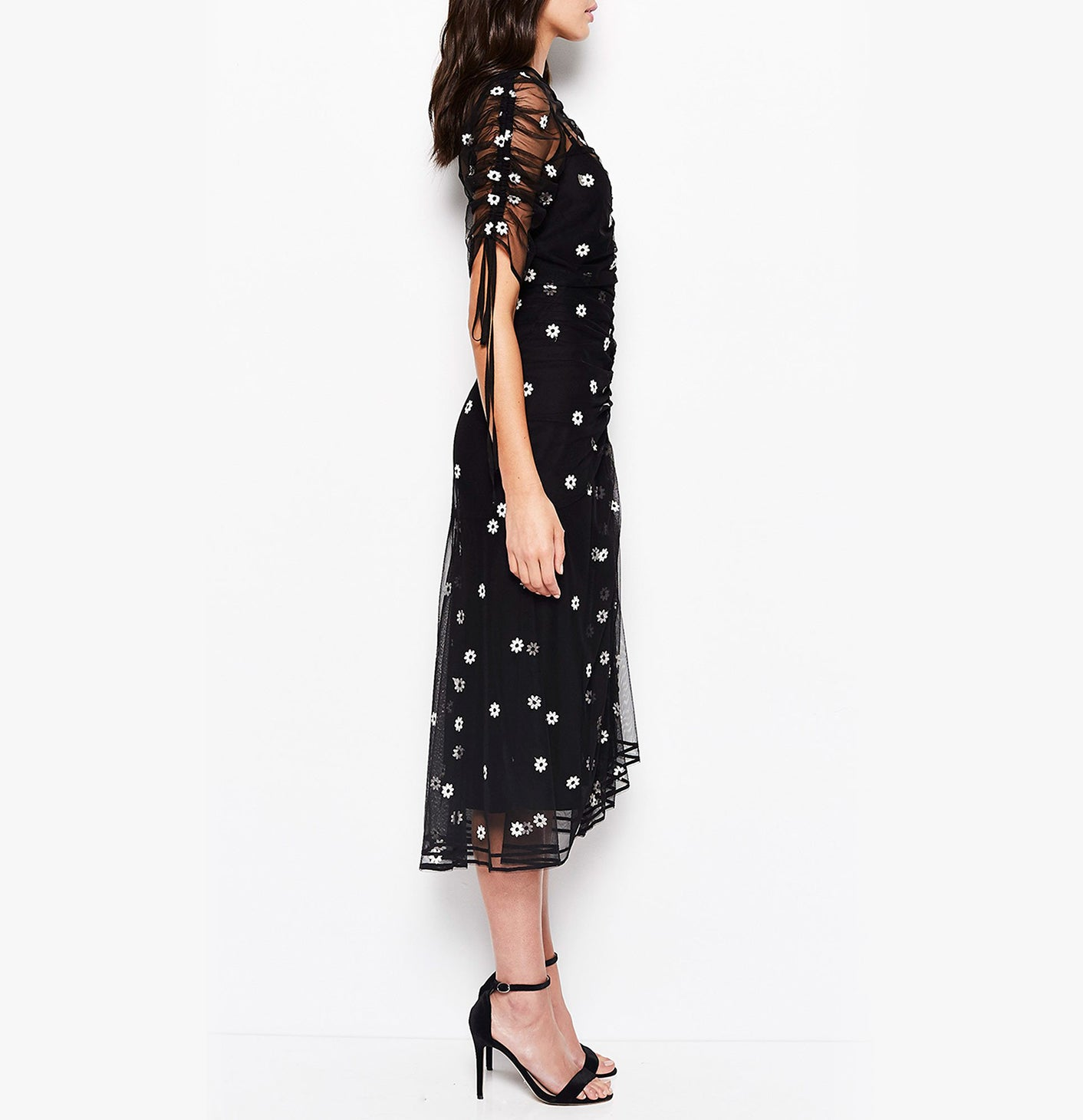 THE GARDEN PARTY DRESS BLACK DAISY