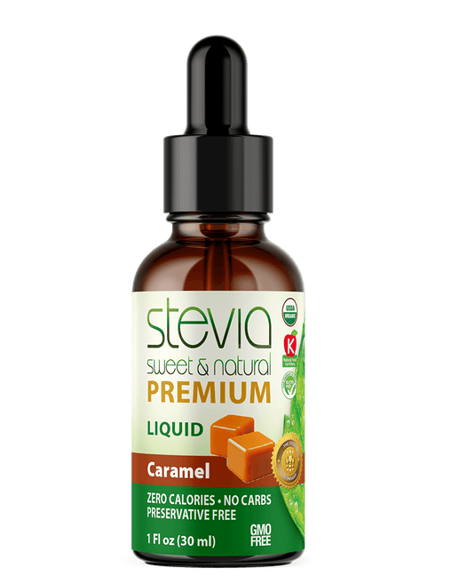 Caramel Premium Quality STEVIA Drops | Organic Liquid STEVIA Sweetener | Best Sugar Substitute | 100% Pure Extract| All Naturally Sweet| Non Bitter, 0 Calorie, Non-GMO, Diabetic & Keto Friendly (1oz)