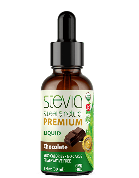 CHOCOLATE Premium Quality STEVIA Drops | Organic Liquid STEVIA Sweetener | Best Sugar Substitute |100% Pure Extract| All Naturally Sweet| Non Bitter, 0 Calorie, Non-GMO, Diabetic & Keto Friendly (1oz)