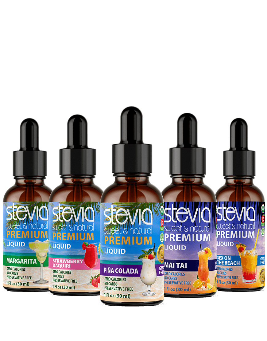 Cocktails Lovers (5-PACK) Stevia Bundle | Premium Stevia drops | 5 Flavors in Glass Bottles | All Natural | Non-Bitter |NON-GMO | Diabetic & Keto Friendly|(1oz)