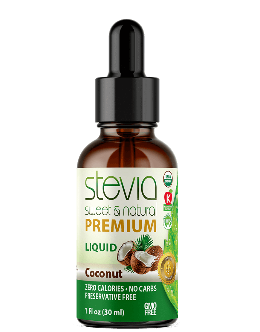 Coconut  Premium Quality STEVIA Drops | Organic Liquid STEVIA Sweetener | Best Sugar Substitute | 100% Pure Extract| All Naturally Sweet| Non Bitter, 0 Calorie, Non-GMO, Diabetic & Keto Friendly (1oz)