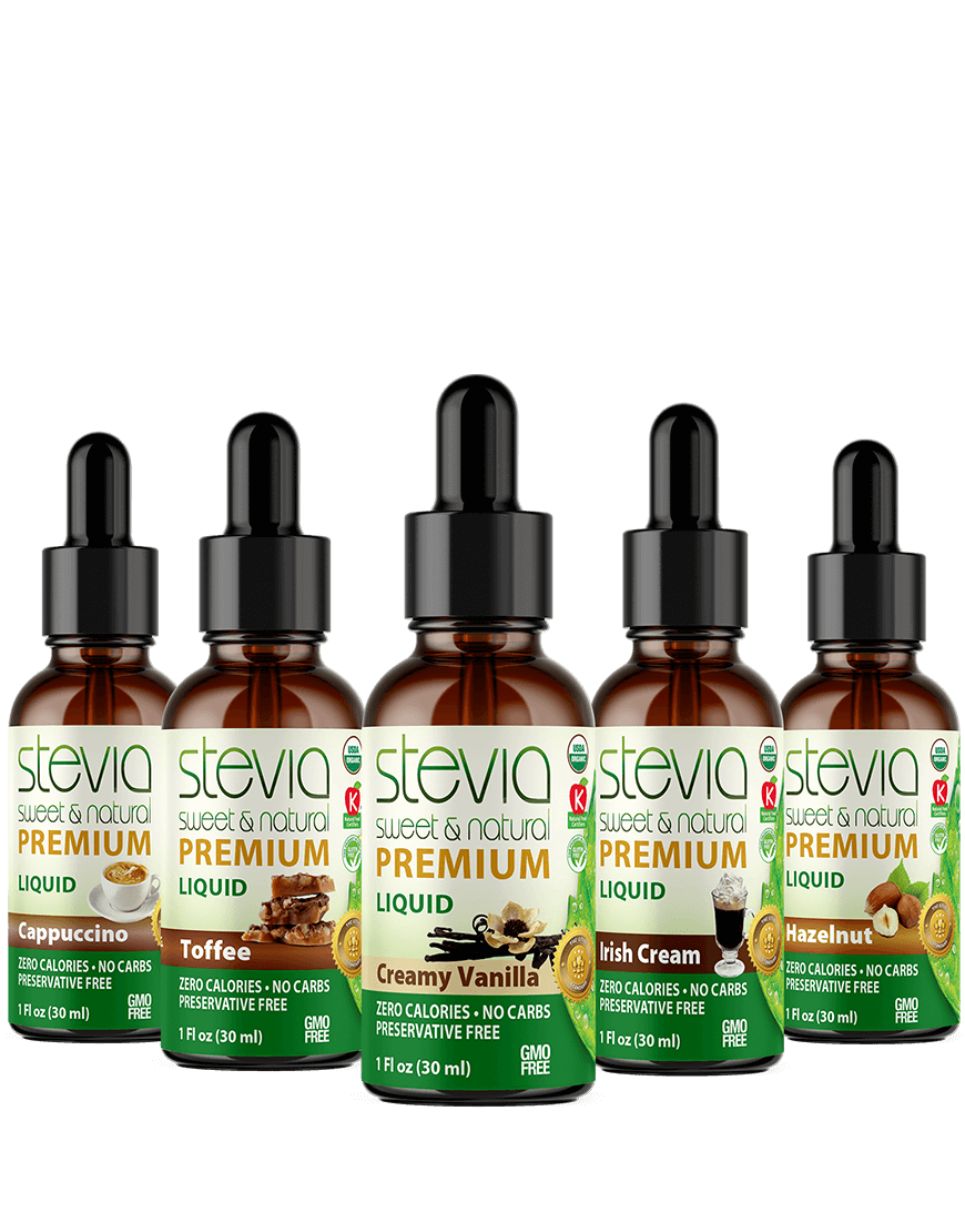 Coffee Lovers' Favorite (5-Pack) Stevia Bundle | Premium Stevia drops | 5 Flavors in Glass Bottles | All Natural | Non-Bitter | NON-GMO | Diabetic & Keto Friendly  (1oz)
