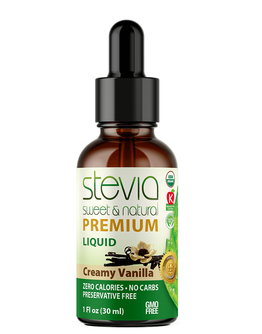 Creamy Vanilla  Premium Quality STEVIA Drops | Organic Liquid STEVIA Sweetener | Best Sugar Substitute | 100% Pure Extract | All Naturally Sweet| Non Bitter, 0 Calorie, Non-GMO, Diabetic & Keto Friendly (1oz)