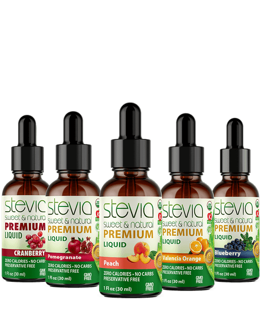 Exotic Fruits (5-Pack) Stevia Bundle | Premium Stevia drops | 5 Flavors in Glass Bottles | 100% Pure Extract | All Natural | Non-Bitter | NON-GMO |Diabetic & Keto Friendly |(1oz)