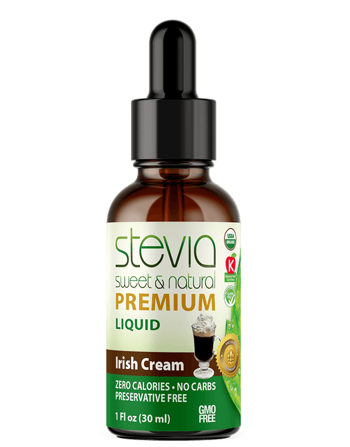 IRISH CREAM Premium Quality STEVIA Drops | Organic Liquid STEVIA Sweetener | Best Sugar Substitute | 100% Pure Extract| All Naturally Sweet| Non Bitter, 0 Calorie, Non-GMO, Diabetic & Keto Friendly (1oz)