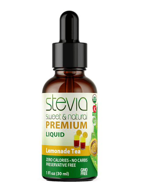 Lemonade Tea  Premium Quality STEVIA Drops | Organic Liquid STEVIA Sweetener | Best Sugar Substitute | 100% Pure Extract| All Naturally Sweet| Non Bitter, 0 Calorie, Non-GMO, Diabetic & Keto Friendly (1oz)