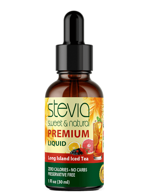 Long Island Iced Tea Premium  Stevia Drops | Organic Liquid STEVIA Sweetener | Best Sugar Substitute |100% Pure Extract| All Naturally Sweet| Non Bitter, 0 Calorie, Non-GMO, Diabetic & Keto Friendly (1oz)