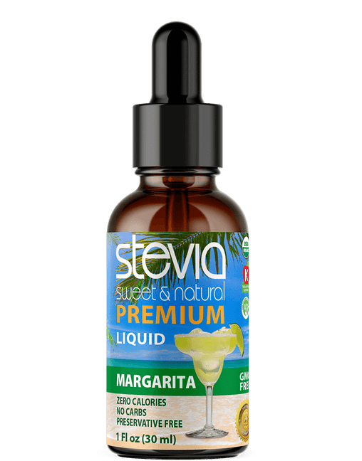 Margarita Premium Quality Stevia Drops | Organic Liquid STEVIA Sweetener | Best Sugar Substitute | 100% Pure Extract| All Naturally Sweet| Non Bitter, 0 Calorie, Non-GMO, Diabetic & Keto Friendly (1oz)