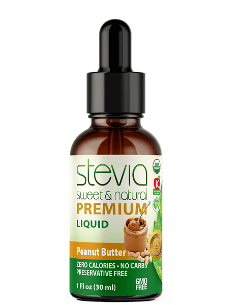 Peanut Butter Premium Quality STEVIA Drops | Organic Liquid STEVIA Sweetener | Best Sugar Substitute | 100% Pure Extract| All Naturally Sweet| Non Bitter, 0 Calorie, Non-GMO, Diabetic & Keto Friendly (1oz)