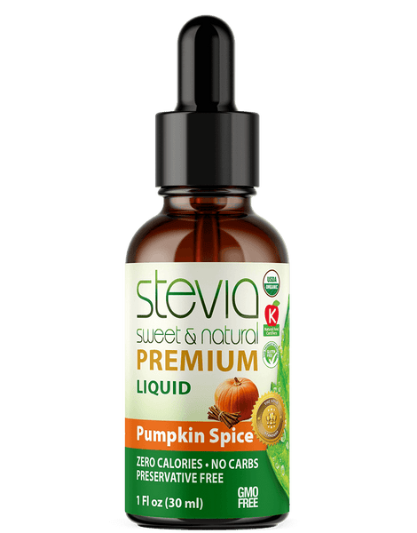 PUMPKIN SPICE Premium Quality STEVIA Drops | Organic Liquid STEVIA Sweetener | Best Sugar Substitute |100% Pure Extract| All Naturally Sweet| Non Bitter, 0 Calorie, Non-GMO, Diabetic & Keto Friendly (1oz)