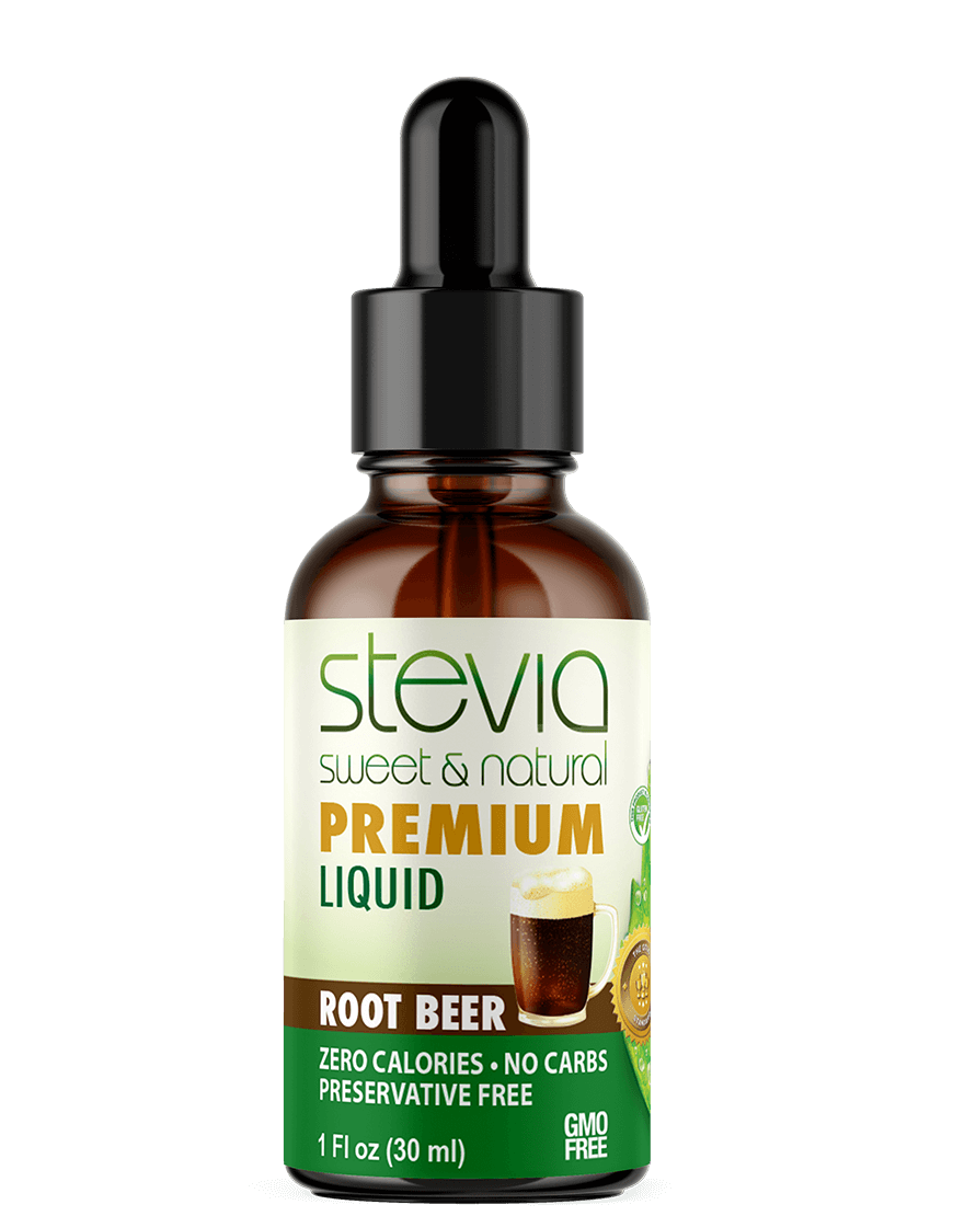 Root Beer  Premium Quality STEVIA Drops | Organic Liquid STEVIA Sweetener | Best Sugar Substitute |100% Pure Extract| All Naturally Sweet| Non Bitter, 0 Calorie, Non-GMO, Diabetic & Keto Friendly (1oz)