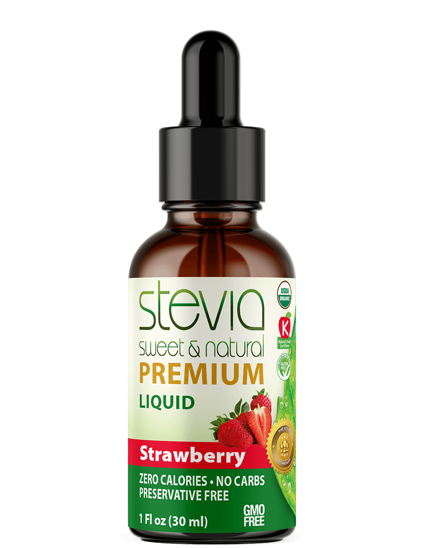 Strawberry  Premium Quality STEVIA Drops | Organic Liquid STEVIA Sweetener | Best Sugar Substitute |100% Pure Extract| All Naturally Sweet| Non Bitter, 0 Calorie, Non-GMO, Diabetic & Keto Friendly (1oz)