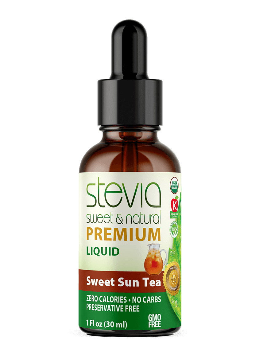 Sweet Sun Tea  Premium Quality STEVIA Drops | Organic Liquid STEVIA Sweetener | Best Sugar Substitute | 100% Pure Extract| All Naturally Sweet| Non Bitter, 0 Calorie, Non-GMO, Diabetic & Keto Friendly (1oz)