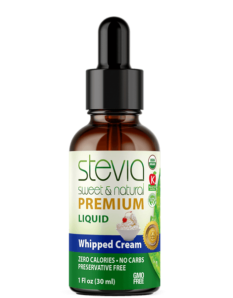 Whipped Cream Premium Quality STEVIA Drops | Organic Liquid STEVIA Sweetener | Best Sugar Substitute |100% Pure Extract| All Naturally Sweet| Non Bitter, 0 Calorie, Non-GMO, Diabetic & Keto Friendly (1oz)