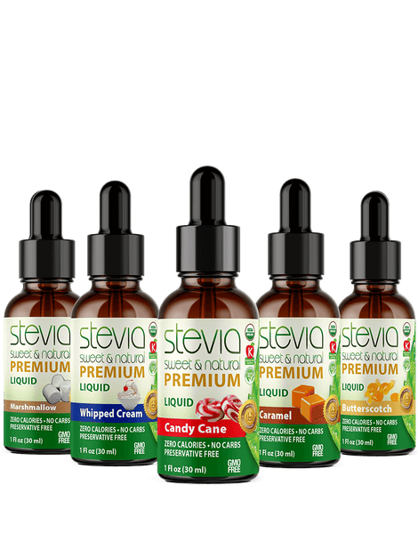 Wonka Land  (5-Pack ) Bundle | Premium Stevia drops | 5 Flavors in Glass Bottles | All Natural | Non-Bitter | NON-GMO | Diabetic & Keto Friendly (1oz)