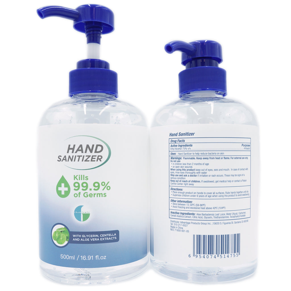 Klerzix 16 bottles alcohol based hand sanitizer gel