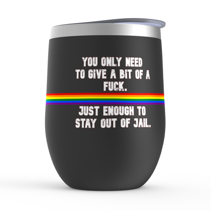 Stay out of Jail Stemless Wine Tumblers