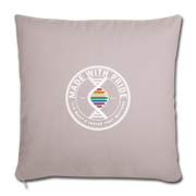 "Throw Pillow Cover 18"" x 18"" - light taupe"