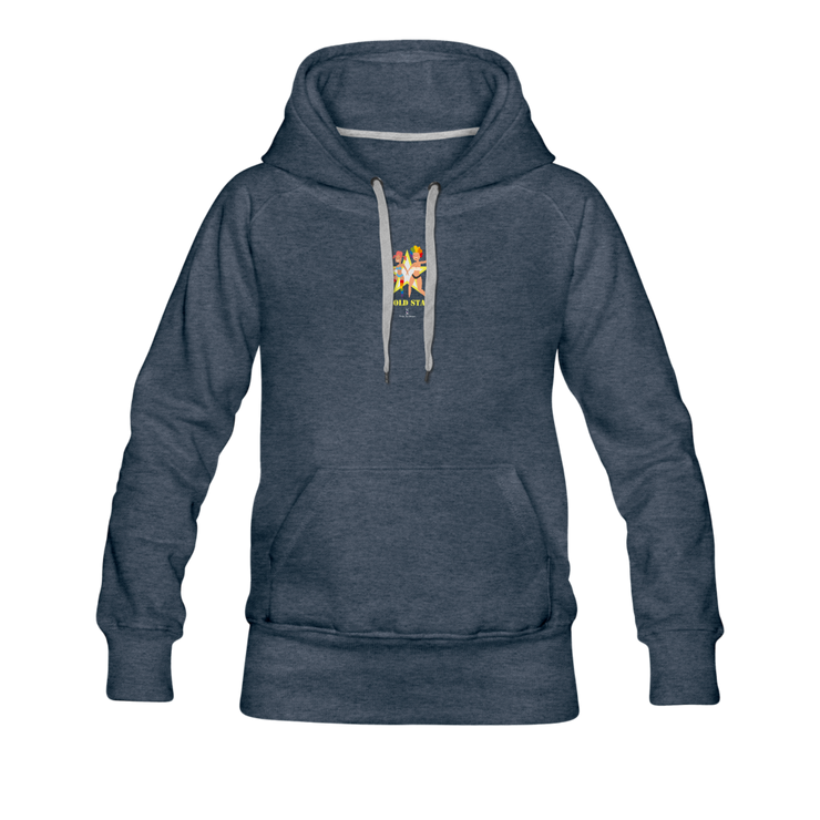 Godl Star Lesbian Premium Hoodie - heather denim