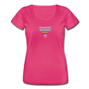 Women's Ally Scoop Neck T-Shirt - hot pink
