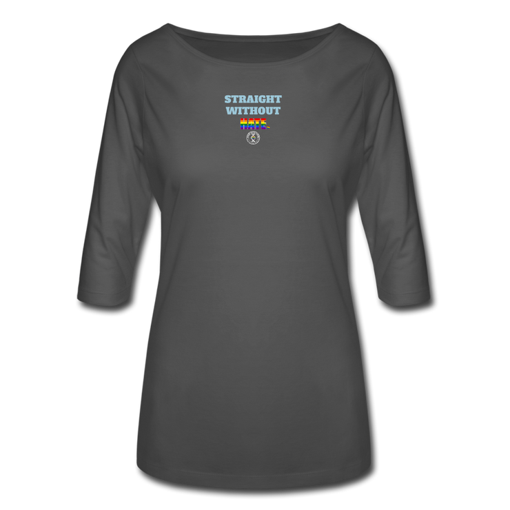 Women's Ally 3/4 Sleeve Shirt - charcoal