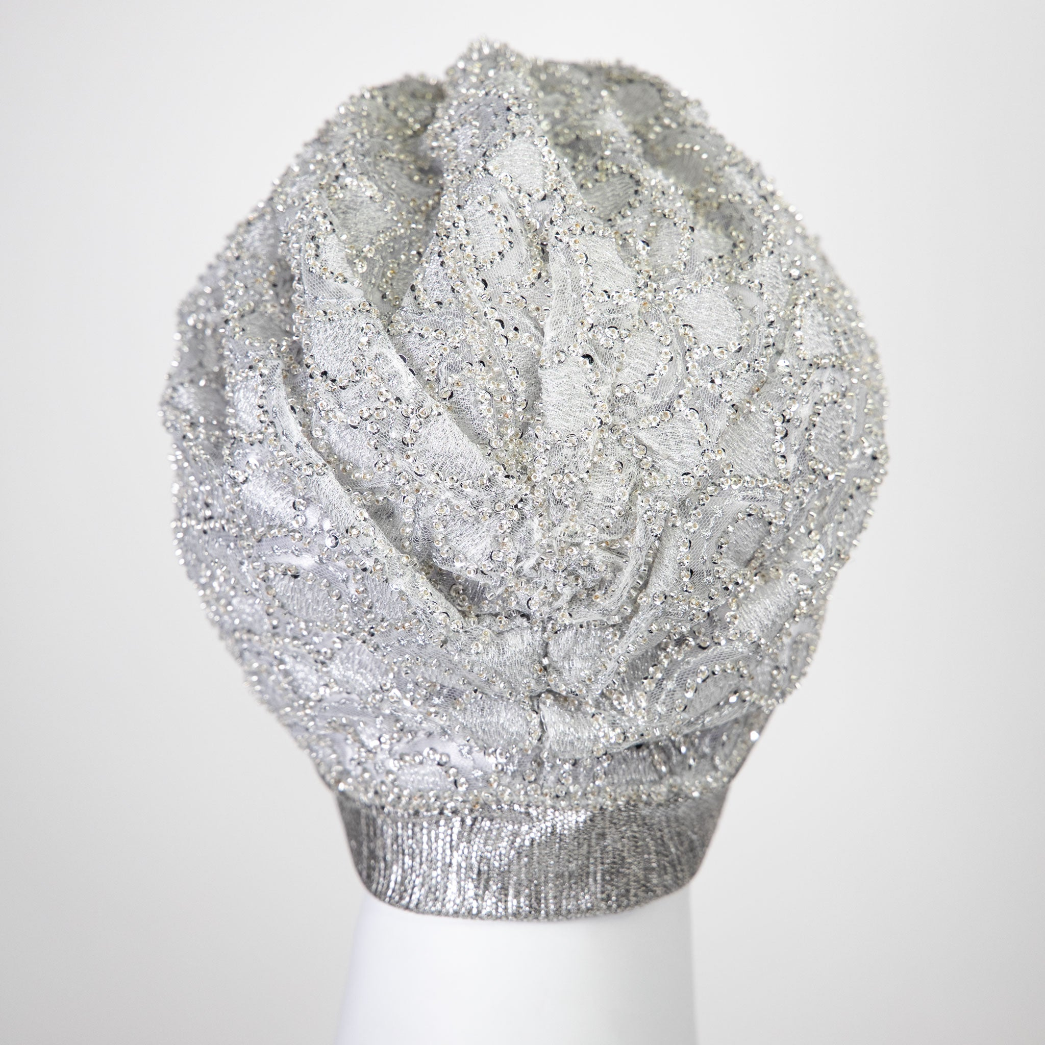 Noor | Silver Embellished Turban Headpiece