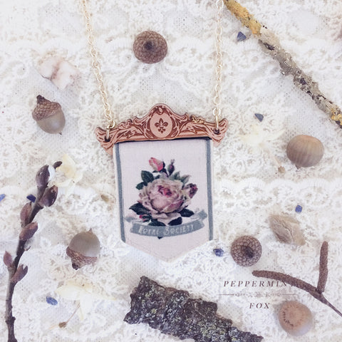 Floral Pennant Necklace
