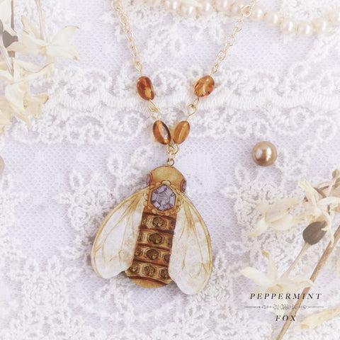 Royal Bee Necklace