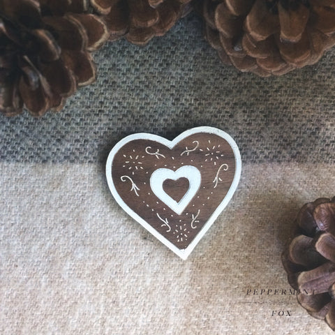 Gingerbread Biscuit Brooch