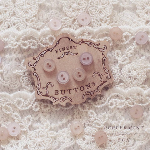 Vintage Button Card Brooch