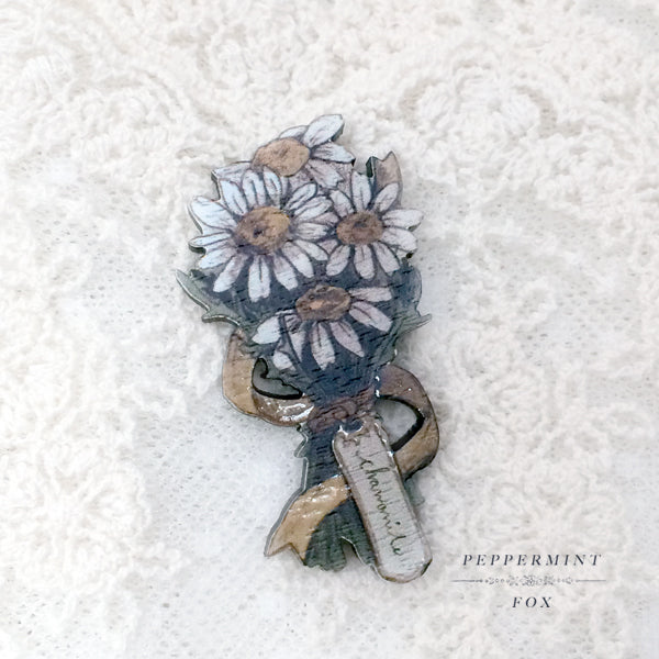 Chamomile Bouquet Brooch