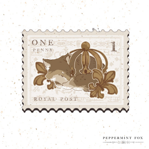 Crowning Glory Stamp Brooch