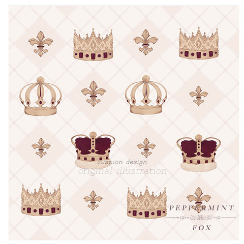 SALE Crowns Cushion Cover