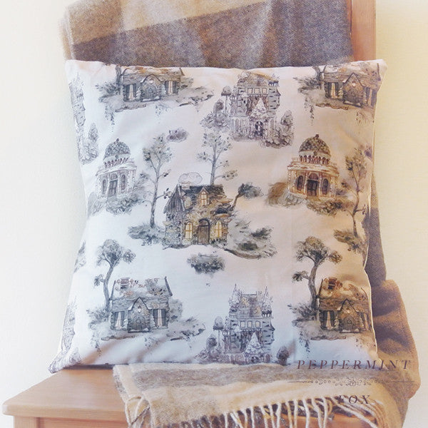 Little Houses Cushion Cover