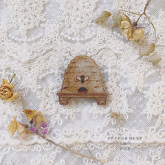 Honey Hive Brooch