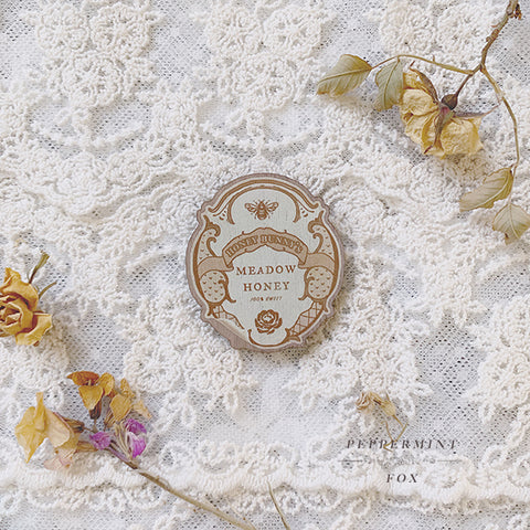 Honey Label Brooch