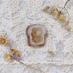 Honey Toast Brooch