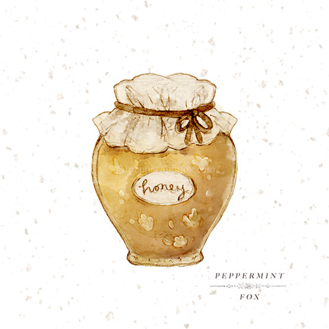 Golden Honey Jar