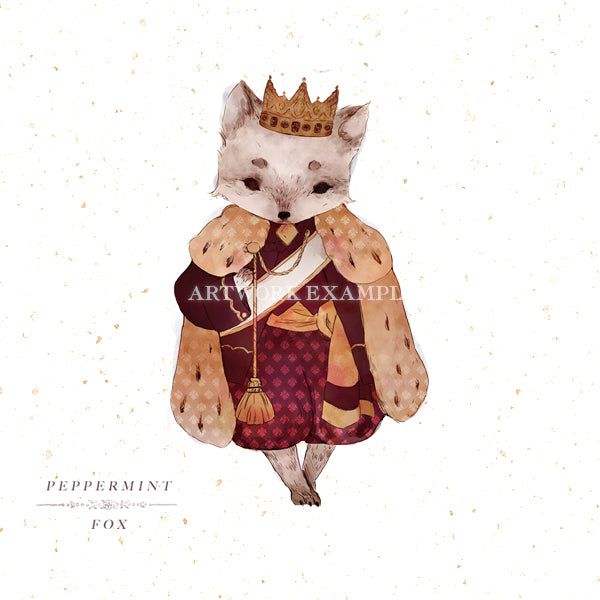 King of Foxes - Tiny Companion Brooch