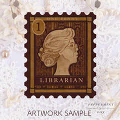 Librarian Stamp Brooch